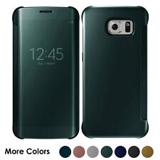 Case For Samsung Galaxy S7 S8+ S9 Smart View Mirror Wallet Leather Flip Cover
