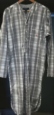 Polo Ralph Lauren Nightwear Gray Plaid Cotton Night Shirt Pajama Gown Men Medium