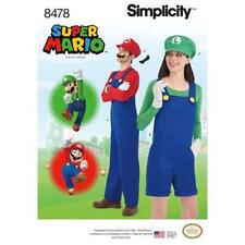 Simplicity PATTERN 8478 Misses', Men's and Teens' Unisex Costume A  XS-XL