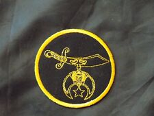 Shriners Round Patch Sword Scimitar Iron Sew Freemason Fraternity NEW!
