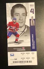 2010 Montreal Canadiens BOB GAINEY  Unused Season Ticket Photo TOMAS PLEKANEC