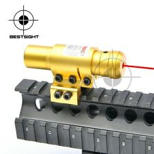 Tactical Red Dot Laser sight Metal Mini Red Laser Sight w/ Mount Gold Color