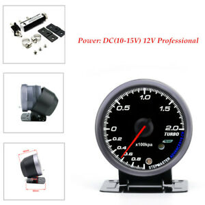 White Orange Car Turbo Boost Gauge Adjustable Turbo Boost Stand Controller Kit