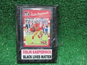 COLIN KAEPERNICK CARD PLAQUE BLACK LIVES MATTER