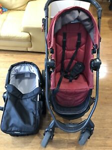 Baby Jogger Versa Pram Red With Bassinet RRP1000 Good Condition From NewBorn