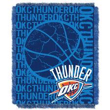 Oklahoma City Thunder OKC Woven Jacquard Tapestry Throw Blanket Spread