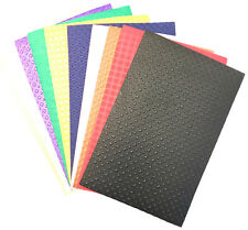 10 X  A4 EMBOSSED FUNKY ART & CRAFT FOAM SHEETS 10 COLOURS ASSORTED EMBOSSED EVA