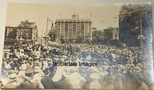 WW1 Peace Day PARADE 1919 VICTORIA BC EMPRESS HOTEL! RPPC PHOTO  POSTCARD WOW!!