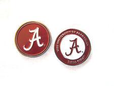 NCAA Alabama Crimson Tide Golf Ball Marker Enamel Metal Team Logo 2 Sided Hat