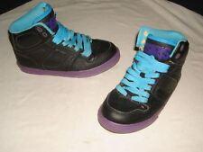 KIDS BOYS OSIRIS NYC 83  BLACK/PURPLE/TEAL SKATEBOARDING SHOES  SZ 2