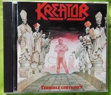 KREATOR TERRIBLE CERTAINTY. FIRST GERMAN PRESS CD 1987. NO BARCODE BLACK CD
