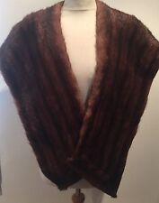 VINTAGE RICH REAL ULTRA SHINY FUR STOLE - classic & perfect condition