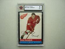 1954/55 TOPPS NHL HOCKEY CARD #45 TONY LESWICK KSA 5 EX SHARP!! 54/55 TOPPS
