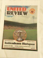 Manchester United  v Tottenham Hotspur League Cup-second round September 1979