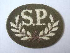 vintage special proficiency  S.P  trade cloth patch