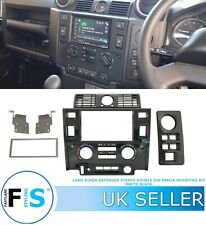 LAND ROVER DEFENDER DOUBLE DIN STEREO FASCIA MOUNTING KIT PANEL MATTE BLACK