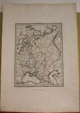 RUSSIA UKRAINE FINLAND LATVIA LITHUANIA 1828 VALLARDI ANTIQUE COPPER ENGRAVEDMAP