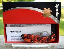 Rare/Sprint Run! Spyderco Delica 4 Knife w/EXCLUSIVE ORANGE ZOME & HAP40/SUS410
