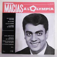 33T Enrico MACIAS Disque LP A L'OLYMPIA 1964 GUITARE -ADIEU MON PAYS - PATHE 169