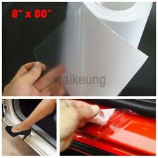 "8"" x 80"" Clear Car Door Sill Edge Paint Protection Film Vinyl Sheet Anti-Scratch"