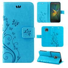 Motorola Moto G5S Handy Tasche Handyhülle Wallet Schutz Hülle Blumen Flip Cover