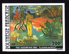 1979 POLYNESIE PA N°144 NON DENTELE P. GAUGUIN xx