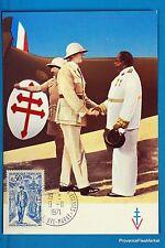 GENERAL DE GAULLE EN AFRIQUE   Carte Postale Maximum FDC Yt C 1696