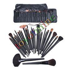 32 PCS cosmétique cuir naturel professionnel sourcils Ombre Maquillage Brush Set