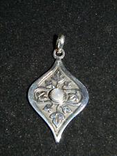 Moonstone Pendant Sterling Silver Vine & Leaves P106