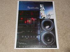 Nakamichi DRAGON, RX-202, PA-7, Preamp, Bacardi Ad, 1990, Rare Ad! 1 page