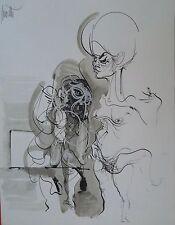 Raymond Moretti Lithographie Extrait Rue de St Denis l'Atelier Grapholith P245