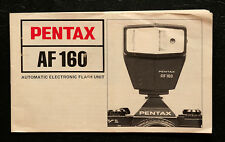 Pentax AF160 automatic Electronic Flash  user manual