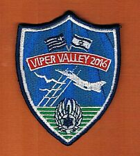 """ISRAEL/HELLENIC A.F. JOINT EXERCISE F-16 IN I-L"""" VIPER VALLEY 2016""""  PATCH"""