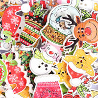 50 Mix Holzknopf Knöpfe Buttons Weihnachten Hirsch Kinderknöpfe Nähen 26x31mm FL