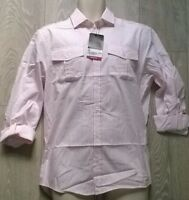 BURTONS Mens pink white stripe trendy smart shirt Size S/M/L/XL NEW BURTON