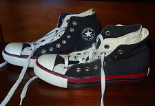 Converse Black Corduroy Double Tongue High Top Chuck Taylor All Stars Size 5