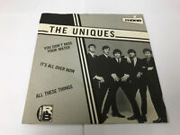 """UNIQUES You Don't Miss Your Water 7"""" VINYL UK Charly 1980 3 Track B/w NIMNT"""