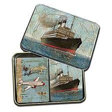 Vintage Travel Playing Cards, 2 Decks in Tin Box