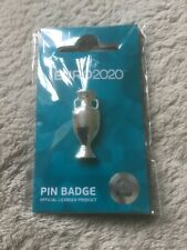 More details for euro 2020 official trophy pin badge england italy spain denmark