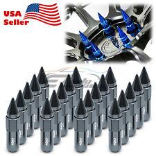 Gunmetal 20 PCS M12X1.5 Lug Nuts Spiked Extended Tuner Aluminum Wheels Rims Cap