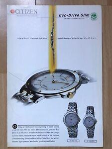 Citizen 1996 Advertisement Pub Ad Werbung