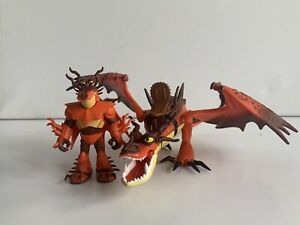How To Train Your Dragon Hookfang & Snotlout Figure Toy Rider 2018 Hidden World