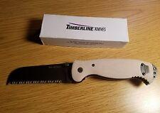 Timberline 18 Delta Desert Rescue Tan 7867 lightbot serrated folding knife g10