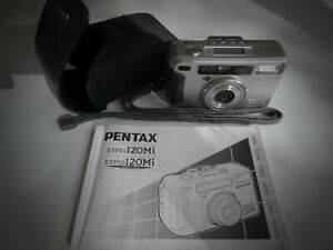 Pentax ESPIO120Mi fully automatic compact 35mm film camera with 3x zoom and case