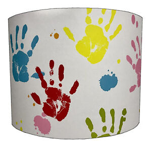 Lampshades Ideal To Match Kids Hand Prints Wallpaper & Hand prints Quilt Covers.