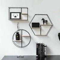 Nordic Style Metal Wall Mounted Rack Shelf Storage Holder Display Home Room