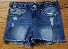 7 For All Mankind Women's Chelsea Lights Blue Denim Shorts Size 10 NWT $39