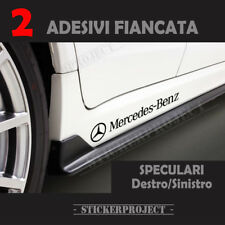 2 Adesivi Mercedes Benz FIANCATA stickers DECAL