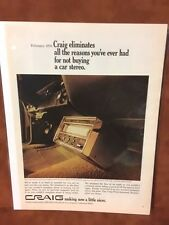 "1970 CRAIG ""Making Now Nicer"" Car Stereo   Print Ad"
