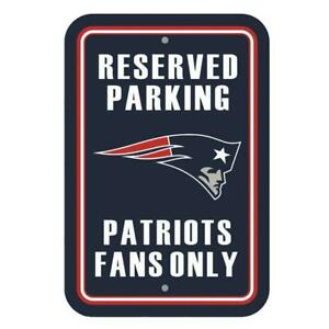 Official New England Patriots Reserved Parking Fans Only Wall Sign NFL Football